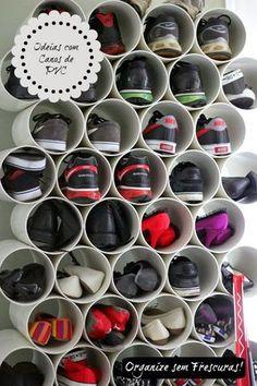 Organize sem Frescuras | Rafaela Oliveira » Arquivos » Ideias criativas utilizando canos de PVC