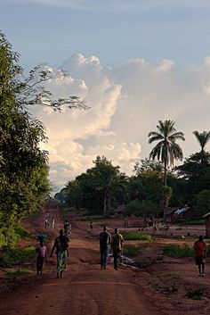 The town of Obo near the Congo border in the Central African Republic