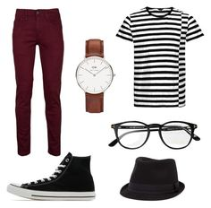 """Untitled #5"" by sappiri34 ❤ liked on Polyvore featuring BKE, Tom Ford, Daniel Wellington, Converse, men's fashion and menswear"