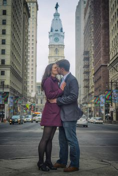 Alli and Mike's Center City Philadelphia Engagement Shoot