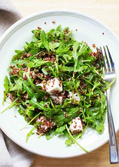 Light and EASY side salad. And so pretty! Perfect with chicken, fish, or steak.