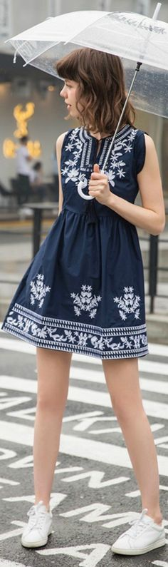 A Blue Casual Boho Style Dress is now available at $42 from Pasaboho. ❤️ This dress exhibit unique design with floral embroidery patterns. :: boho fashion :: gypsy style :: hppie chic :: boho chic :: outfit ideas :: boho kimono :: free spirit :: fashion trend :: embroidered :: flowers :: floral :: lace :: summer :: fabulous :: love :: street style :: fashion style :: boho style :: bohemian :: modern vintage :: ethnic tribal