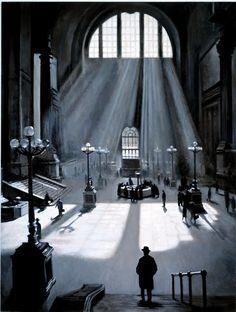 New York - History - Penn Station - The Waiting Room