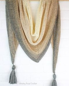 Simple, beautiful and customizable - My First Triangle Shawl is a free crochet shawl pattern that will walk you through the making and shaping of a shawl.