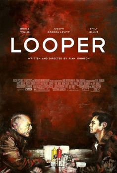 Looper , starring Joseph Gordon-Levitt, Bruce Willis, Emily Blunt, Paul Dano. In 2074, when the mob wants to get rid of someone, the target is sent 30 years into the past, where a hired gun awaits. Someone like Joe, who one day learns the mob wants to 'close the loop' by transporting back Joe's future self. #Action #Crime #Sci-Fi #Thriller