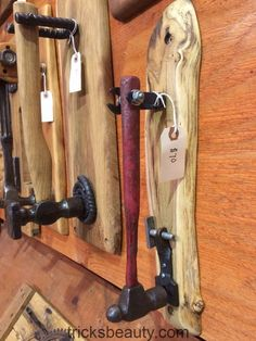 Hammers and other tools upcycled into unique door knockers, David Duckett, Mill Creek Wood Works woodworking is part of Door knockers unique - Industrial Furniture, Rustic Furniture, Cool Furniture, Door Knockers Unique, Metal Art Projects, Scrap Metal Art, Unique Doors, Diy Holz, Welding Art