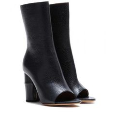 Acne Studios - Zane open-toe leather boots #peeptoes #acne #women #covetme #acnestudios