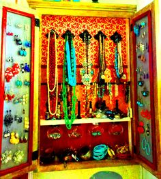 Gypsy Jewelry Cabinet by SweetDreamsHomeDecor on Etsy, $125.00