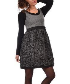 Loving this Gray & Black Ciara Dress on #zulily! #zulilyfinds