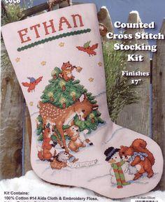 snowman christmas stocking christmas stocking stockings and snowman - Cross Stitch Christmas Stocking Kits