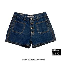 50% Discount.  Vertical Stud Hot Pants.Now It's Only....$12.00