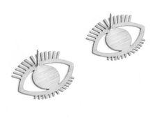 EYE STUDS / SILVER minimal jewelry, handmade evil eye earrings, eclectic jewellery Evil Eye Earrings, Minimal Jewelry, Minimalism, Studs, Silver, Handmade, Etsy, Gemstone Earrings, Asparagus