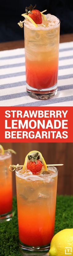 There are a lot of awesome ways to amp up a margarita, and we found yet another fail-proof rendition of one of our favorite cocktails. This time we've added a special ingredient: beer. Make some homemade strawberry lemonade and mix it all up for one hell of a summer afternoon.