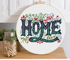Home+sweet+home+cross+stitch+quote+welcome+HOME+instant+PDF