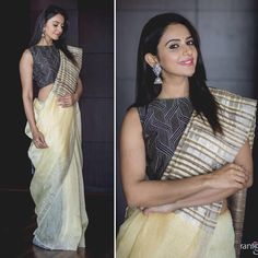 Looking for designer blouse images? Hear are latest trendy blouse models that you can wear with any saree of your choice. Stylish Blouse Design, Trendy Sarees, Indian Beauty Saree, Indian Sarees, Blouse Models, Saree Look, Elegant Saree, Saree Dress, Sari Blouse
