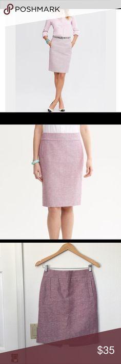 Banana Republic Pencil Skirt Banana Republic Pastel Pink Tweed pencil skirt Banana Republic Skirts Pencil