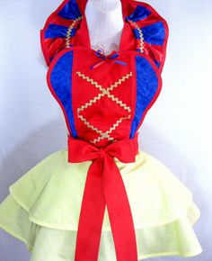 Snow White Inspired Costume Apron by sjcnace4 on Etsy, $70.00