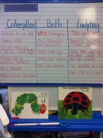Compare and Contrast Eric Carle in the Cafe...#daily5