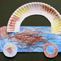 C is for Car Craft {Preschool} and put popsicle stick family inside