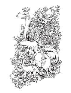Kerby Rosanes El particular estilo del ilustrador filipino Kerby Rosanes se caracteriza por líneas caprichosas y diminutos personajes que se combinan, de forma casi espontánea, para crear masivas composiciones.  He aquí un desafío para todas las edades.  Si eres un fanático de los garabatos y los dibujos para pintar, este libro es definitivamente para ti.  En él encontrarás cincuenta ilustraciones únicas del reconocido ilustrador Kerby Rosanes, repletas de diminutas y traviesas criaturas que…