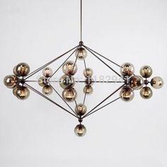 Il trasporto libero 10 testa lampadine dna bolla di vetro palla pendente luce luce del pendente di modo fagiolo magico