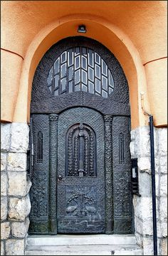 Budapest, Art Nouveau portal by elinor04 mostly off, via Flickr