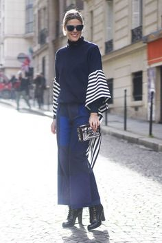 Flare sleeves and stripes  | For more style inspiration visit 40plusstyle.com