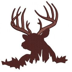 Buck, Moose, Deer machine hunting embroidery digitized Filled design pattern - Instant Download -4x4 , 5x7, and 6x10 hoops