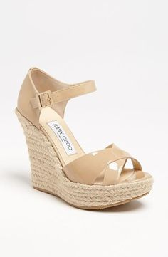 Sweet. Jimmy Choo Wedge Sandals.