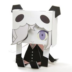 Cute Anime Character toys made from paper.