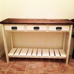 The Webbs: DIY Entry Table Tutorial