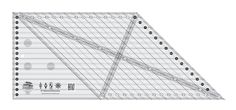 Creative Grids 8in 45 Degree Diamond Dimensions Ruler By Underwood, Erin  - Increase your diamond design possibilities with the 45 degree Diamond Dimensions Ruler.  Cut chevrons, half diamonds, quarter diamonds and traditional diamonds from strip sets.  This 8 inch ruler includes all of the markings required to take your quilts to the next level.  The ruler slides easily over the fabric until pressure is applied.  Then, our exclusive gripper holds the fabric in place while cutting…