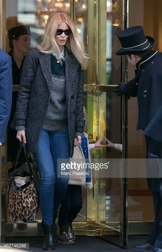 News Photo : Claudia Schiffer is seen on February 4, 2015 in...