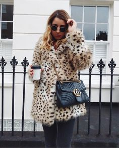 The pieces to buy at HM that look luxe according to the top fashion bloggers. From vinyl skirts, chunky embellished knitwear, faux fur jackets and the seasons must have colours, baby blue, beige and all shades of metallics. Shop the trendiest H&M items, as worn by some of the world's chicest women on IG. #Hm #FauxFur #Coats #Fashionbloggers