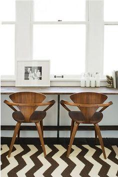 Brown bar chairs