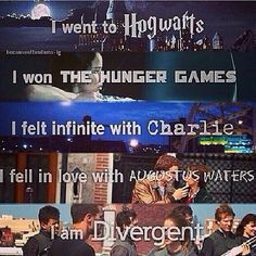 Divergent | Harry potter | the hunger games | Percy Jackson | the fault in our stars | the perks of being a wallflower