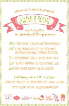Summer Social invite