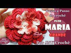 PAP de crochê Flor Maria (grande) por JNY Crochê - YouTube