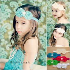 $2.99!! Double Shabby Rosette Pearl Rhinestone Baby Headband SALE!! « « Tot Shot Boutique http://www.totshotboutique.com