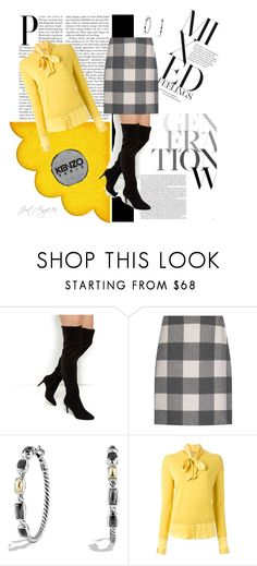 """""""Over-the-knee-boots"""" by justangie76 ❤ liked on Polyvore featuring Weekend Max Mara, David Yurman, P.A.R.O.S.H. and Kenzo"""