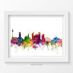 Sydney Poster, Sydney Skyline, Sydney Cityscape, Sydney Print, Sydney Art, Sydney Decor, Home Decor, Gift Idea 06