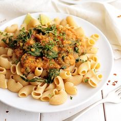 Red Lentil and Spinach Pasta