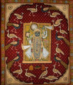 Shrinathji Pichwai the festival of Gopashtami. Contemporary, Nathdwara