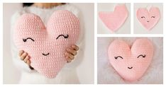 crochet heart patternsare always a popular choice at Valentine's Day.You will fall in love with thisHeart Shaped Pillow Free Crochet Pattern.