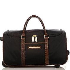 Carry-On Wheeled Duffle<br>Black Tuscan Travel