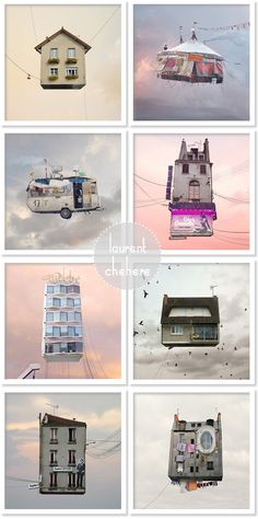 """Flying Houses"" by Laurent Chehere"
