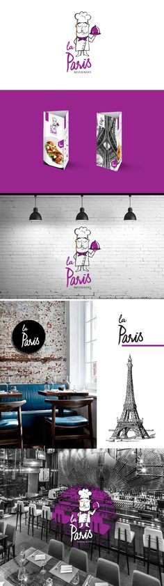 Logotype - La Paris Restaurant  more: www.momentart.pl