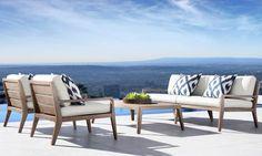 Why Teak Outdoor Garden Furniture? Rh Furniture, Teak Garden Furniture, Outdoor Furniture Sets, Furniture Design, Furniture Ideas, Outdoor Lounge, Outdoor Living, Restoration Hardware, Patio