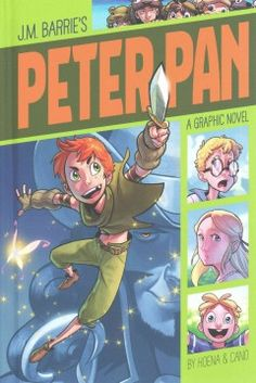 In this graphic retelling of the classic novel, Peter Pan, the boy who never grows up, takes Wendy, John, and Michael Darling to Never-Never Land, where they meet Indians and fight pirates, including the dreaded Captain Hook.
