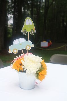 """Photo 2 of 24: Vintage Cars and Trucks / Birthday """"Carter's 2nd Birthday""""   Catch My Party"""
